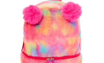 Go to Product: Faux Fur Rainbow Pom Pom Mini Backpack