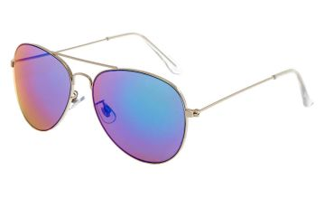 Go to Product: Blue Mirrored Aviator Sunglasses Silver
