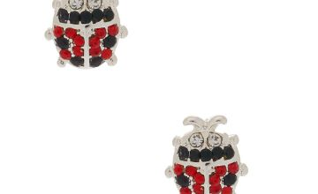 Go to Product: Silver Crystal Ladybug Stud Earrings
