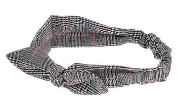 Go to Product: Plaid Knotted Bow Headwrap - Pink