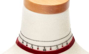 Go to Product: Hematite Beaded Velvet Choker Necklaces - Red, 3 Pack