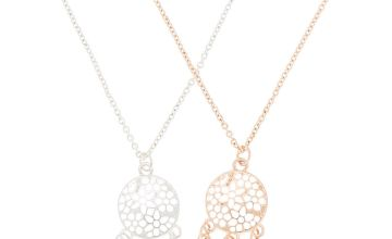 Go to Product: Mixed Metal Dreamcatcher Pendant Necklaces - 2 Pack
