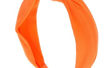 Go to Product: Ribbed Knotted Headband - Neon Orange