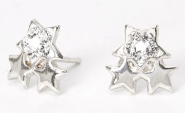 Go to Product: Sterling Silver Swarovski® Crystal Trio Star Stud Earrings