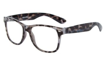 Go to Product: Tortoiseshell Retro Clear Lens Frames - Grey