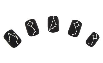 Go to Product: Matte Constellation Faux Nail Set - Black, 24 Pack