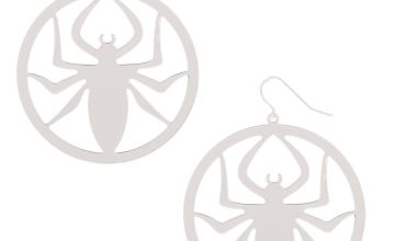 "Go to Product: Silver 2"" Spider Drop Earrings"