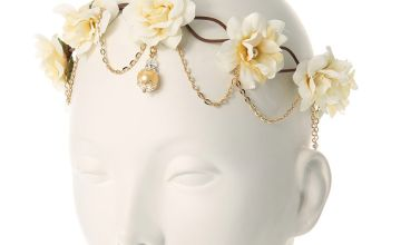 Go to Product: Gold Chain Flower Vine Headwrap - Ivory