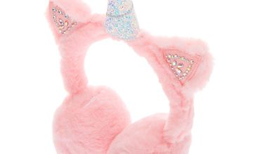 Go to Product: Embellished Unicorn Soft Ear Muffs - Pink