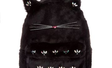 Go to Product: Plush Gem Cat Backpack - Black