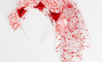 Go to Product: Blood Splatter Floral Headband Veil