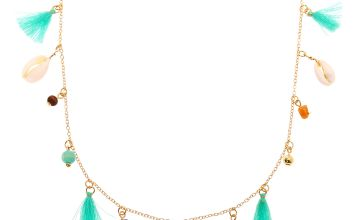 Go to Product: Gold Shell Tassel Long Pendant Necklace - Turquoise
