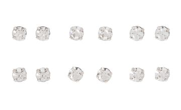 Go to Product: Rose Gold 4MM Crystal Stud Earrings - 6 Pack