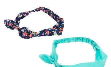 Go to Product: Navy & Mint Floral Knotted Bow Headwraps - 2 Pack