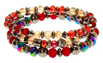 Go to Product: Hematite Bead Stretch Bracelets - Red, 3 Pack