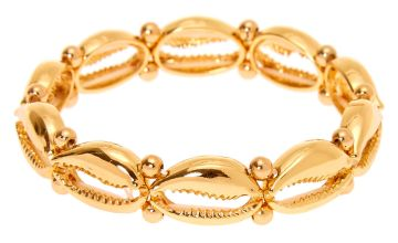 Go to Product: Gold Cowrie Shell Stretch Bracelet