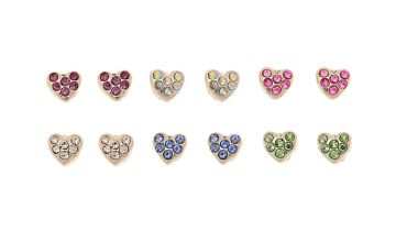 Go to Product: Silver Heart Magnetic Stud Earrings - 6 Pack