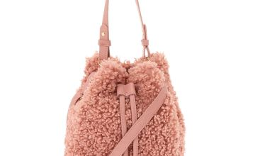 Go to Product: Sherpa Bucket Crossbody Bag - Pink
