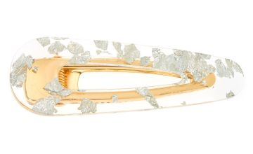 Go to Product: Gold Foil Jumbo Hair Clip - Silver