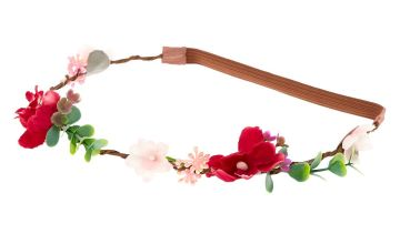 Go to Product: Twiggy Flower Crown Headwrap - Burgundy