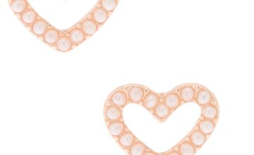 Go to Product: Rose Gold Pearl Heart Stud Earrings