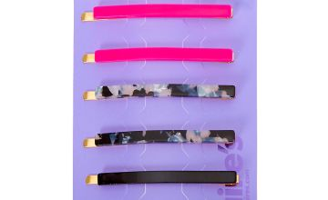 Go to Product: Black & Pink Tortoiseshell Hair Pins - 6 Pack