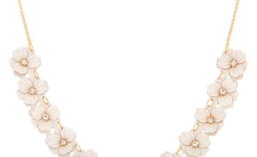 Go to Product: In Bloom Statement Necklace - White