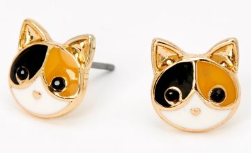 Go to Product: Gold Calico Cat Stud Earrings