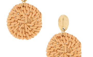 "Go to Product: Gold 2"" Straw Drop Earrings"