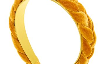 Go to Product: Suede Braided Headband - Mustard