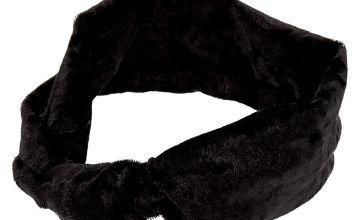 Go to Product: Claire's Club Velvet Knot Headwrap - Black