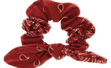 Go to Product: Small Bandana Knotted Bow Hair Scrunchie - Rust