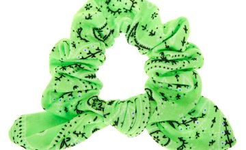 Go to Product: Small Bandana Knotted Bow Hair Scrunchie - Neon Green