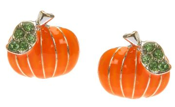 Go to Product: Pumpkin Stud Earrings - Orange