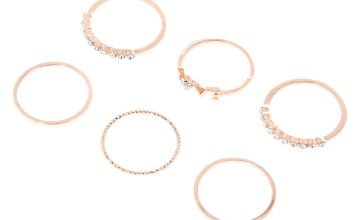 Go to Product: Rose Gold Love Rings - 6 Pack