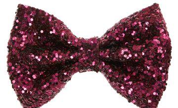 Go to Product: Glitter Mini Hair Bow Clip - Burgundy