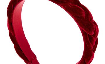Go to Product: Suede Braided Headband - Burgundy