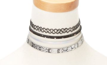 Go to Product: Snakeskin Shine Choker Necklaces - 4 Pack