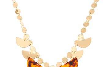 Go to Product: Gold Resin Tortoiseshell Statement Necklace - Brown