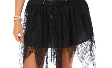 Go to Product: Witch Lace Up Tutu - Black