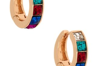 Go to Product: Gold 12MM Rainbow Hoop Earrings