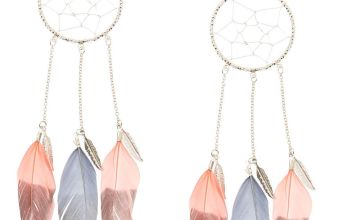 Go to Product: Pink & Grey Dreamcatcher Drop Earrings
