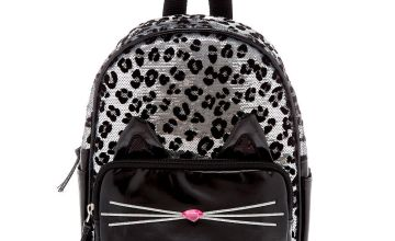 Go to Product: Sequin Leopard Mini Backpack - Black