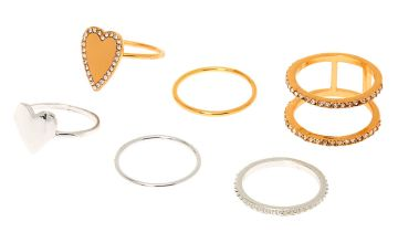 Go to Product: Mixed Metal Heart Rings - 6 Pack