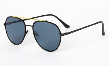 Go to Product: Neon Browline Aviator Sunglasses - Black