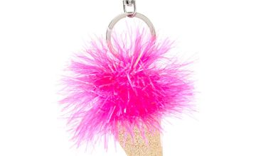 Go to Product: Tinsel Ice Cream Cone Keychain - Pink