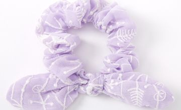 Go to Product: Small Crochet Knotted Bow Hair Scrunchie - Purple