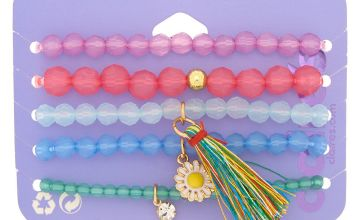 Go to Product: Rainbow Tassel Beaded Stretch Bracelets - 5 Pack