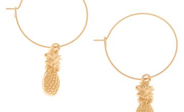 Go to Product: Gold 20MM Pineapple Charm Hoop Earrings