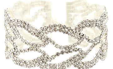 Go to Product: Silver Rhinestone Leaf Chain Bracelet